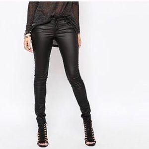 Waxed Skinny Jeans